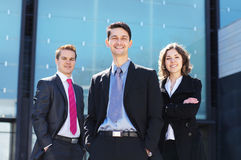 Three young businessperson in formal clothes Stock Photo