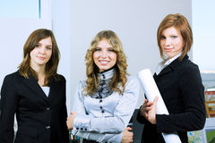 Three young businesswoman. Royalty Free Stock Image