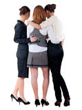 Three  young bussineswoman pointing Royalty Free Stock Photography