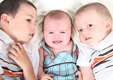 Three young children Stock Photos