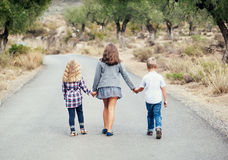 Three young children Royalty Free Stock Images