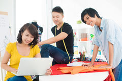 Three young designers Royalty Free Stock Photo