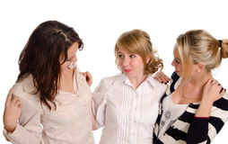 Three young female students Royalty Free Stock Photography