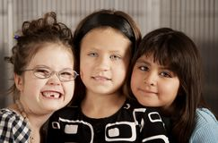 Three Young Friends Royalty Free Stock Images