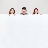 Three young friends. Royalty Free Stock Photo