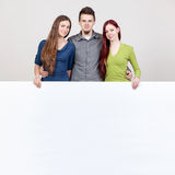 Three young friends. Royalty Free Stock Images
