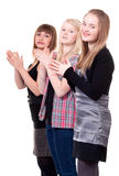 Three young girls Stock Photography