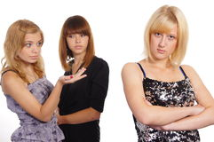three young girls Stock Image