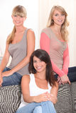 Three young girls. Portrait of three young girls Royalty Free Stock Photography