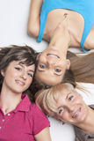 Three Young Ladies With Teeth Braces Stock Image