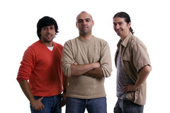 Three young man Stock Image