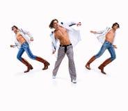 Three young man Royalty Free Stock Image