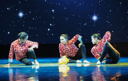 Three young married woman-Folk dance Stock Photos