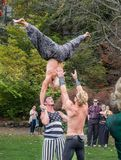 Acrobats in the park