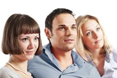 Three young people Royalty Free Stock Images