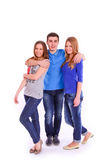 Three young people isolated Stock Photography