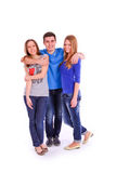 Three young people isolated Stock Photo
