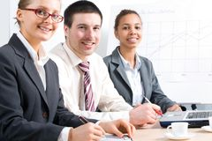Three Young Professionals Stock Images