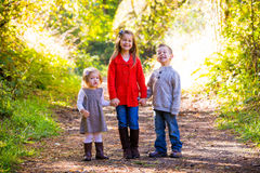 Three Young Siblings Stock Photography