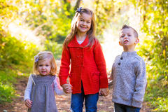 Three Young Siblings Royalty Free Stock Photography