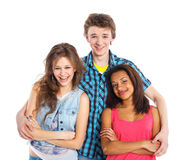 Three young teenagers Royalty Free Stock Image