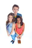 Three young teenagers Royalty Free Stock Photo