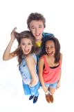 Three young teenagers Royalty Free Stock Images