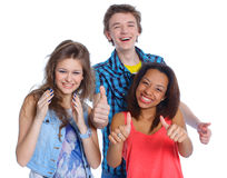 Three young teenagers Royalty Free Stock Photos