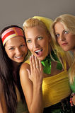 Three young woman portrait Royalty Free Stock Photo