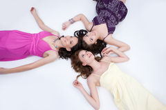 Three Young Women Stock Photo