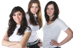 Three young women Stock Images