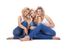 Three young women Royalty Free Stock Image