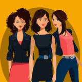 Three young women Stock Photos