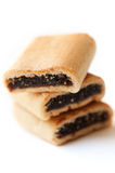 Three Yummy Fig Cookies Royalty Free Stock Image