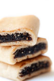 Three Yummy Fig Cookies Royalty Free Stock Photography