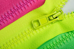 Three zippers Royalty Free Stock Photos