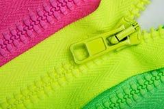 Three zippers Royalty Free Stock Photos