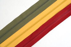 Three zips Stock Images