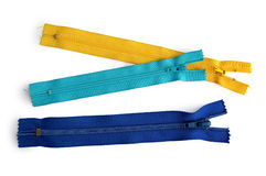 Are three zips Stock Photography