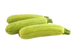 Three zucchini royalty free stock images