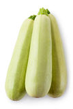 Three zucchini. Topview. Royalty Free Stock Images