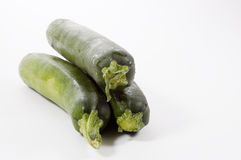 Three Zuchinni Royalty Free Stock Photography