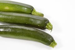 Three Zuchinni Stock Photos