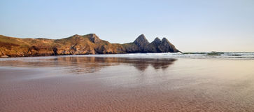 Threecliff Bay, The Gower coast line, South Wales Stock Photography