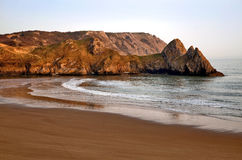 Threecliff Bay, The Gower coast line, South Wales Stock Image