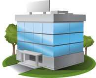 ThreeD Vector office building illustration Royalty Free Stock Photography