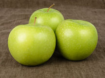 Threee Granny Smith Apples Stock Image