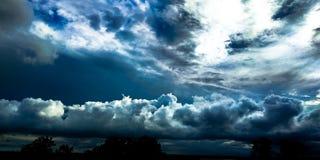 Threes van de wolken donkere regen royalty-vrije stock fotografie