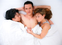 Threesome Stock Photo