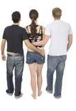Threesome amical Photographie stock libre de droits
